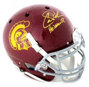 "Carson Palmer Signed NCAA USC Trojans Schutt Authentic Helmet with ""Heisman 02"" Inscription-0"