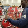 Sony Michel Signed Georgia Bulldogs Schutt Full Size NCAA Helmet-32524