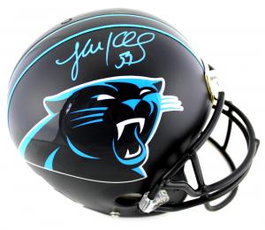 Luke Kuechly Signed NFL Carolina Panthers Custom Black Authentic Helmet-0