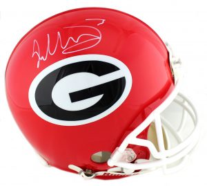 Todd Gurley Signed Georgia Bulldogs Riddell Authentic NCAA Helmet-0