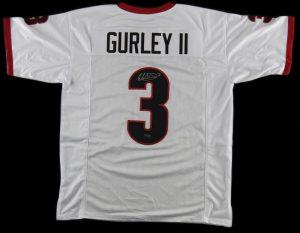 Todd Gurley Signed Georgia Custom White Jersey-0