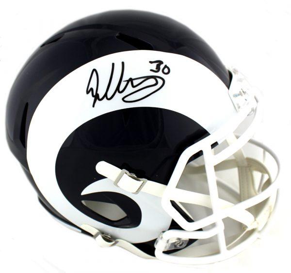 Todd Gurley Signed Los Angeles Rams Riddell Full Size Speed NFL Helmet-31123