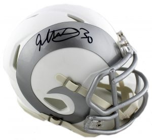Todd Gurley Signed Los Angeles Rams Riddell Ice Speed NFL Mini Helmet-0