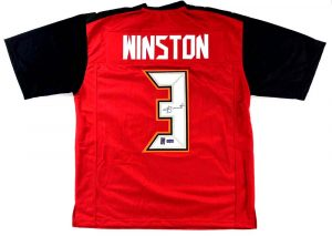 Jameis Winston Signed Tampa Bay Buccaneers Red Custom Jersey -0
