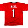 Sony Michel Signed Georgia Red Custom Football Jersey-0