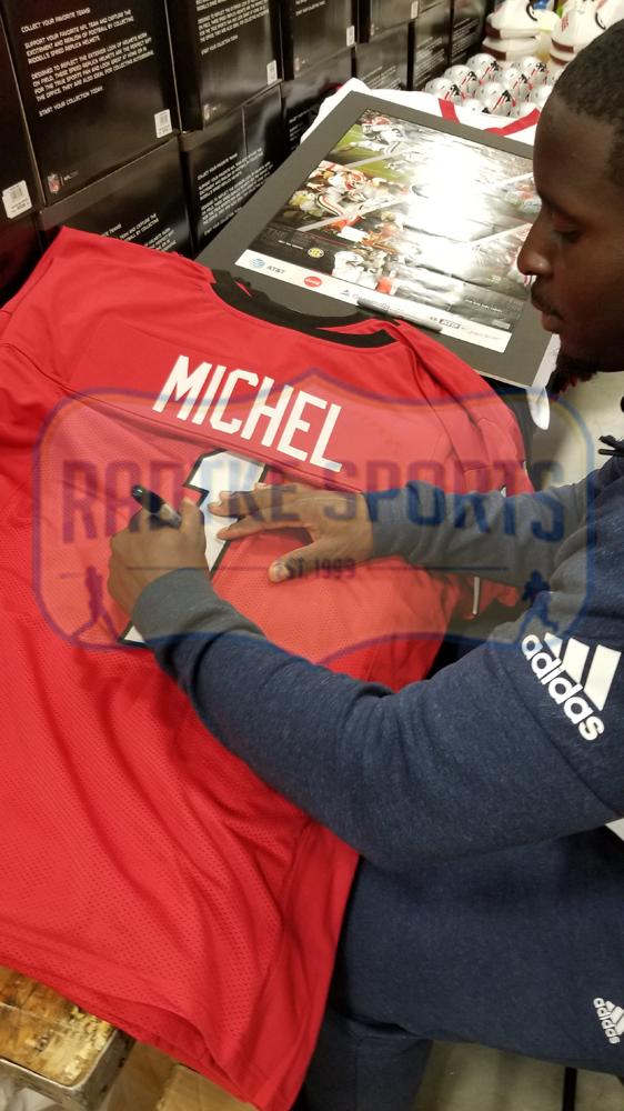 Sony Michel Signed Georgia Red Custom Football Jersey-32536