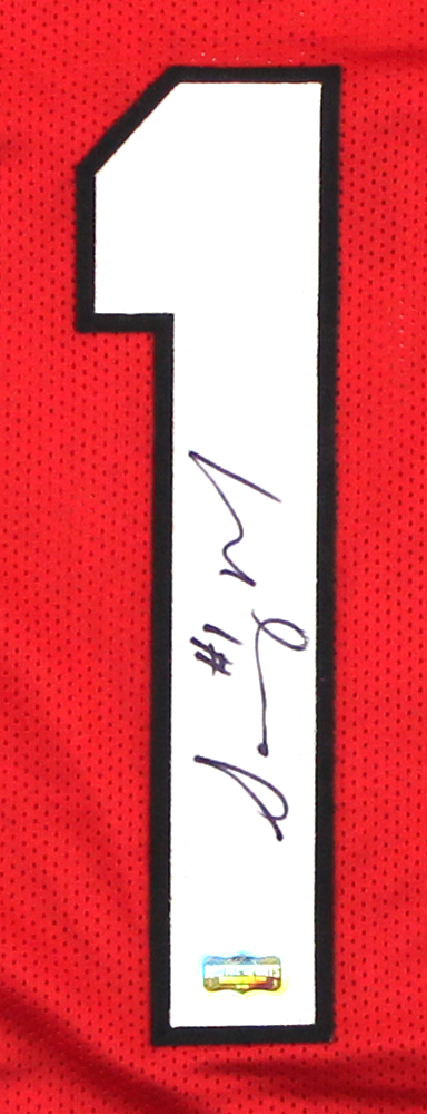 Sony Michel Signed Georgia Red Custom Football Jersey-32534