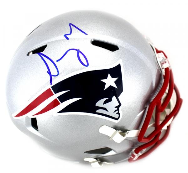 Sony Michel Signed New England Patriots Full Size Speed NFL Helmet-0