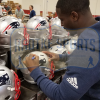 Sony Michel Signed New England Patriots Full Size Speed NFL Helmet-32543