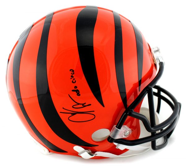 "Chad Johnson Signed Cincinnati Bengals NFL Authentic Full Size Helmet With ""Ocho Cinco"" Inscription-0"