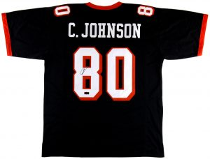 Chad Johnson Signed Oregon State University Custom Black Jersey-0