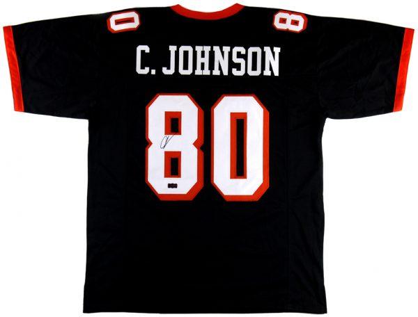Chad Johnson Signed Oregon State University Custom Black Jersey-0
