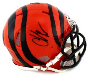 Chad Johnson Signed Cincinnati Bengals NFL Mini Speed Helmet -0