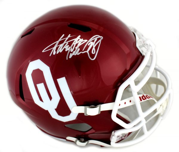 Adrian Peterson Signed Oklahoma Sooners Authentic NCAA Speed Helmet-0