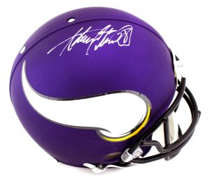 Adrian Peterson Signed Minnesota Vikings Authentic NFL Helmet-0