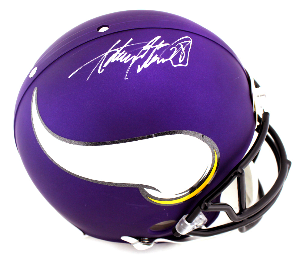 6c53e9ec Adrian Peterson Signed Minnesota Vikings Authentic NFL Helmet