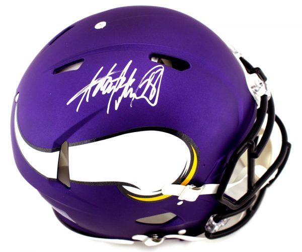 Adrian Peterson Signed Minnesota Vikings Speed Authentic NFL Helmet-0