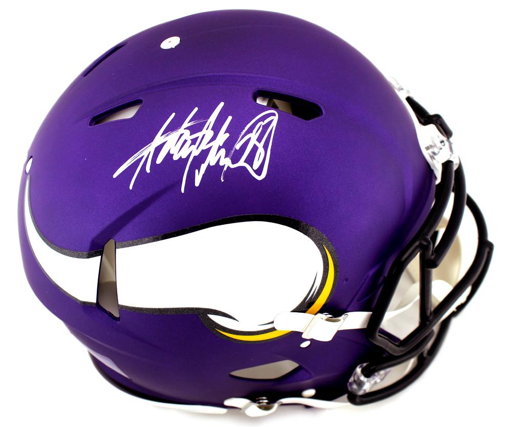 bfa2003d Adrian Peterson Signed Minnesota Vikings Speed Authentic NFL Helmet