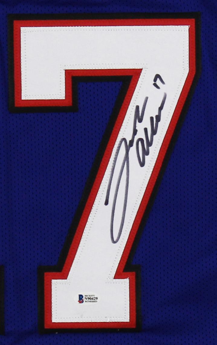 Josh Allen Signed Buffalo Custom Blue Jersey