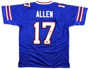 Josh Allen Signed Buffalo Custom Blue Jersey-0