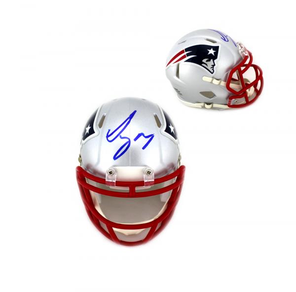 Sony Michel Signed New England Patriots Speed NFL Mini Helmet-0