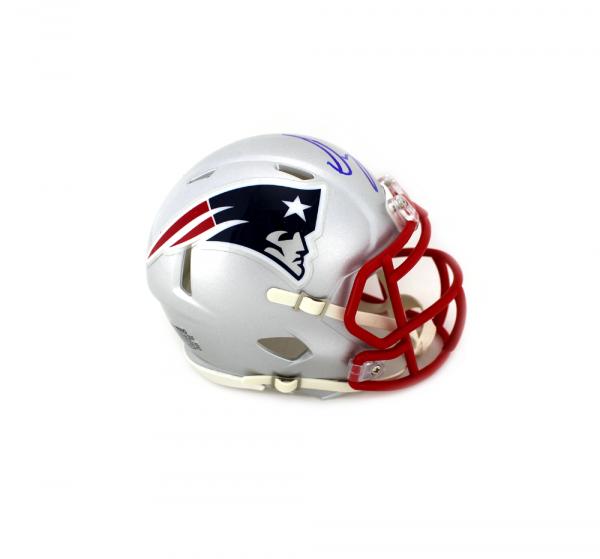Sony Michel Signed New England Patriots Speed NFL Mini Helmet-32551