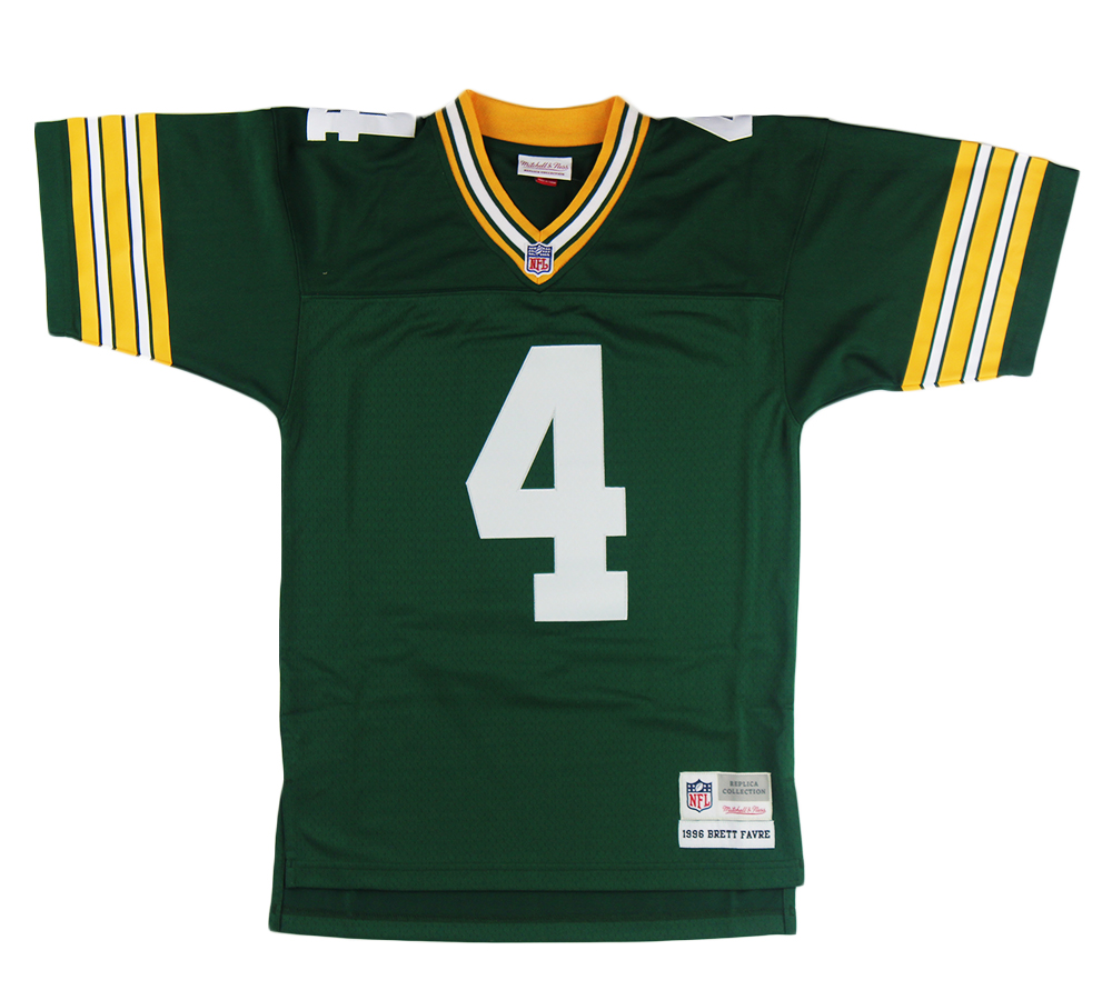Brett Favre Signed Green Bay Packers Mitchell & Ness NFL Jersey with