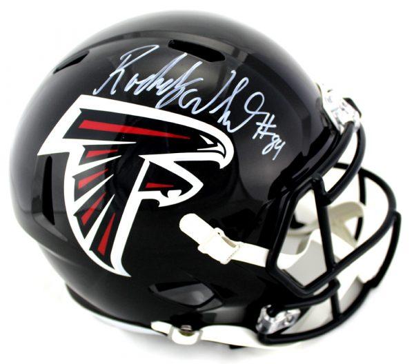 Roddy White Signed Atlanta Falcons Riddell NFL Full-Size Speed Helmet-0