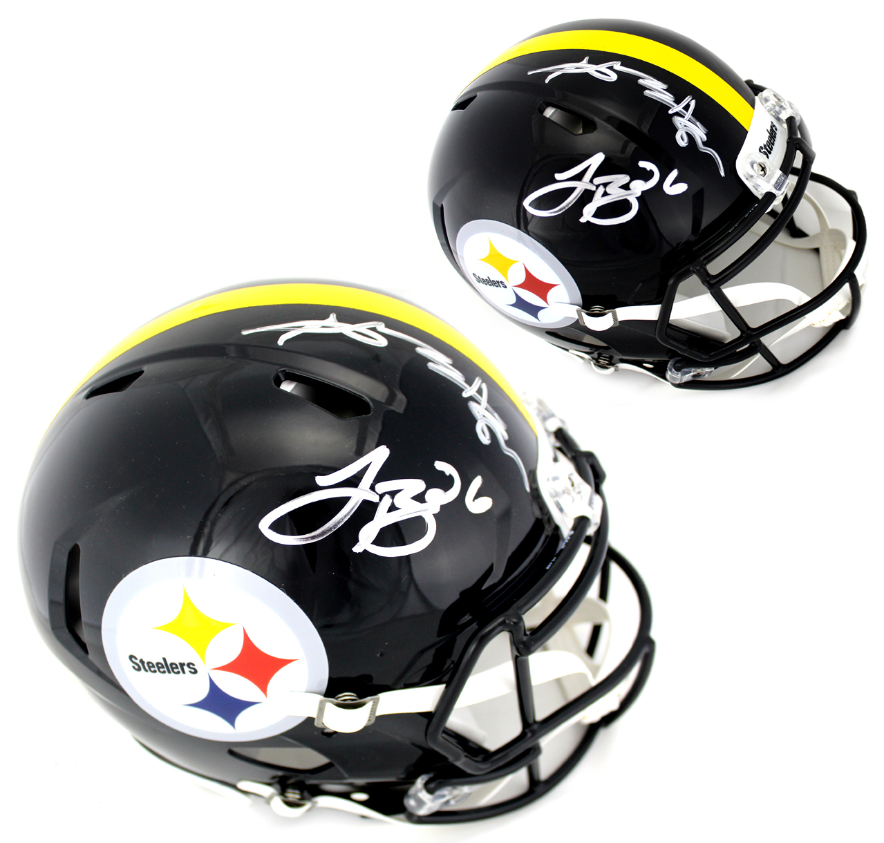 LeVeon Bell Autographed Signed Pittsburgh Steelers Full Size Replica Helmet Autographed Signed Helmets JSA Certified Authentic