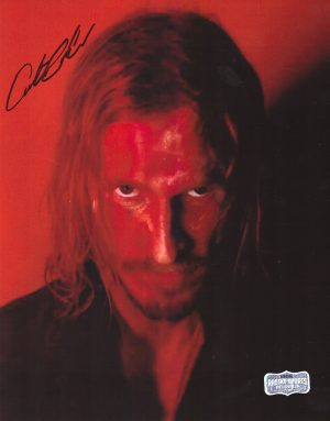 Austin Amelio Signed 8x10 The Walking Dead Red Portrait Photo-0