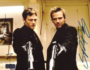 Norman Reedus & Sean Patrick Flanery Signed The Boondock Saints 8x10 Photo No Glasses -0