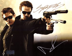 Norman Reedus & Sean Patrick Flanery Signed The Boondock Saints 8x10 Photo With Glasses-0