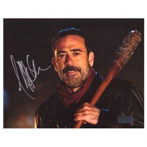 Jeffrey Dean Morgan Signed The Walking Dead 8x10 Photo - Brown Bat-30889