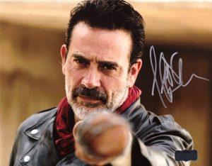 Jeffrey Dean Morgan Signed The Walking Dead 8x10 Photo - Brown Bat-0