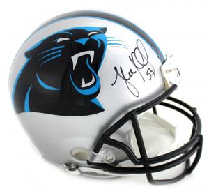 Luke Kuechly Signed NFL Carolina Panthers Current Authentic Helmet-0