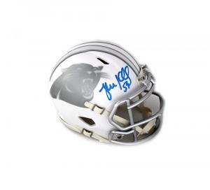 Luke Kuechly Signed NFL Carolina Panthers Ice Mini Helmet-0