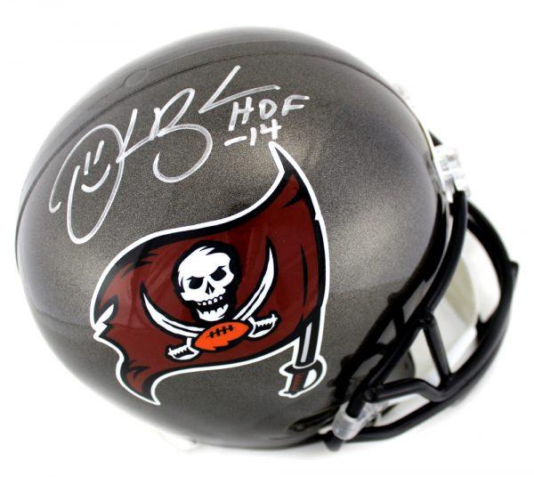 "Derrick Brooks Signed Tampa Bay Buccaneers Riddell NFL Full Size Throwback (1997-2013) Helmet With ""HOF 2014"" Inscription-0"