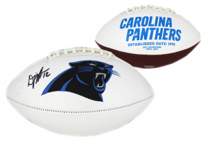 DJ Moore Signed Carolina Panthers Embroidered NFL Football-0