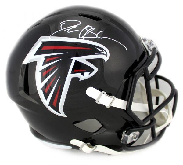 Deion Sanders Signed Atlanta Falcons Riddell NFL Full Size Speed Helmet-0