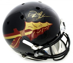 Deion Sanders Signed Florida State University Schutt Full Size Black Helmet-0
