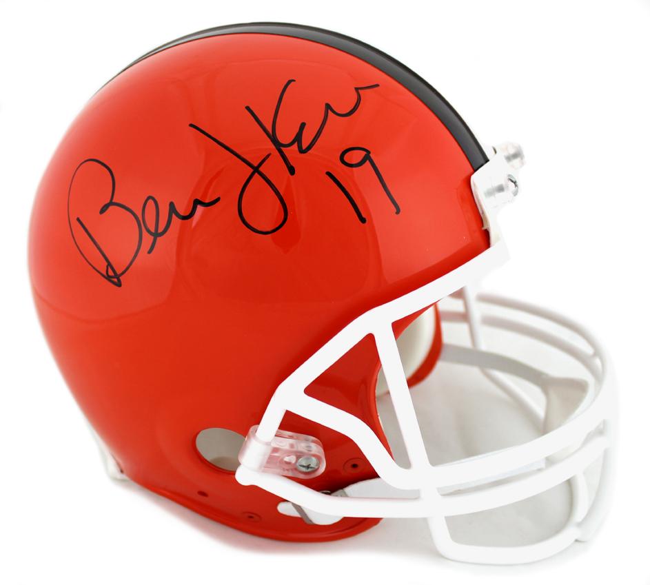 ef2ab7b8 Bernie Kosar Signed Cleveland Browns NFL Throwback Authentic Helmet