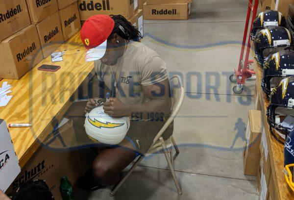 Melvin Gordon & LaDainian Tomlinson Signed Los Angeles Chargers Riddell Full Size NFL Helmet-32419