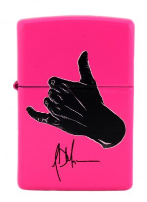 Jeffrey Dean Morgan Exclusive Zippo Lighter Neo Pink with Black Logo-0