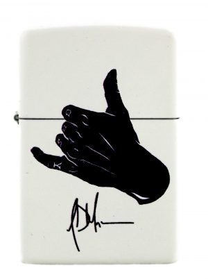 Jeffrey Dean Morgan Exclusive Zippo Lighter White Matte with Black Logo-0