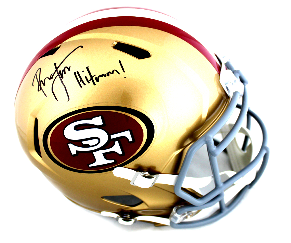 newest e9936 deae6 Ronnie Lott Signed San Francisco 49ers Speed Helmet with