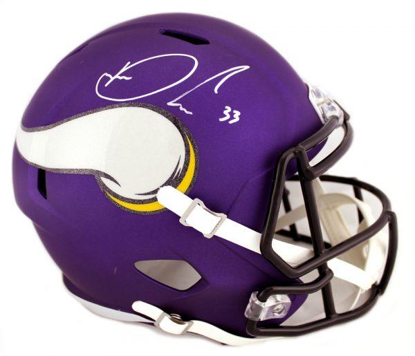 Dalvin Cook Signed Minnesota Vikings Riddell Full Size Speed Helmet-0
