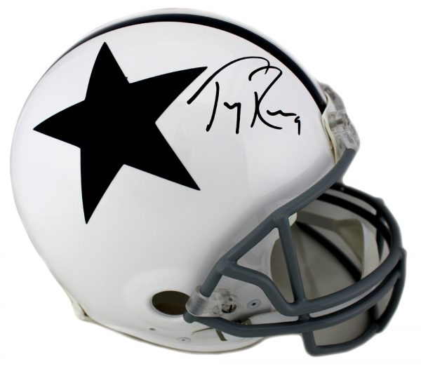 Tony Romo Signed Dallas Cowboys Throwback Authentic Thanksgiving NFL Helmet-0