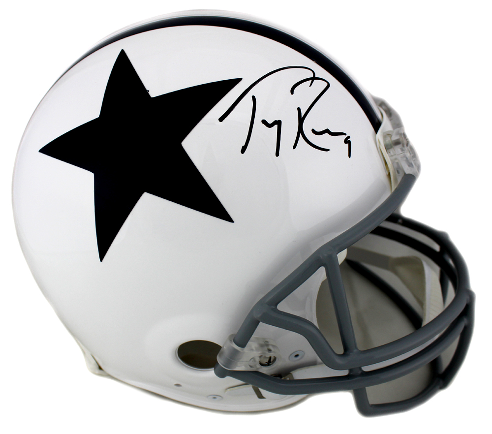 huge discount 0fe0e 0e538 Tony Romo Signed Dallas Cowboys Throwback Authentic Thanksgiving NFL Helmet