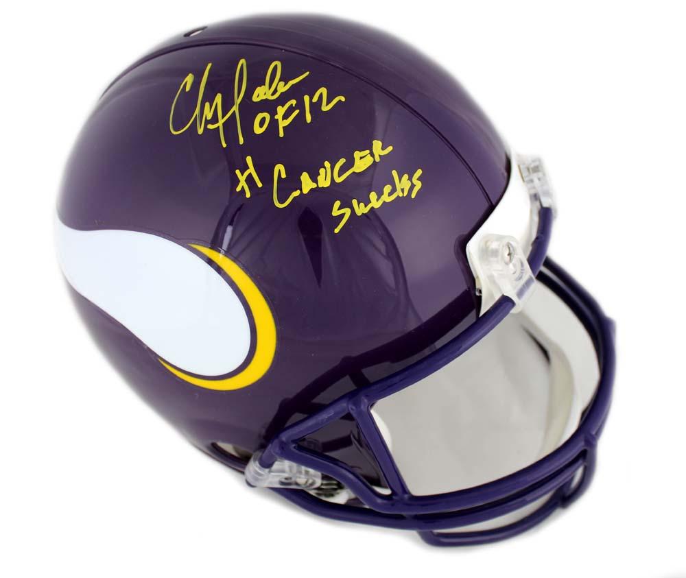"e0f52517e Chris Doleman Signed Minnesota Vikings Throwback Authentic Helmet with ""HOF  12"