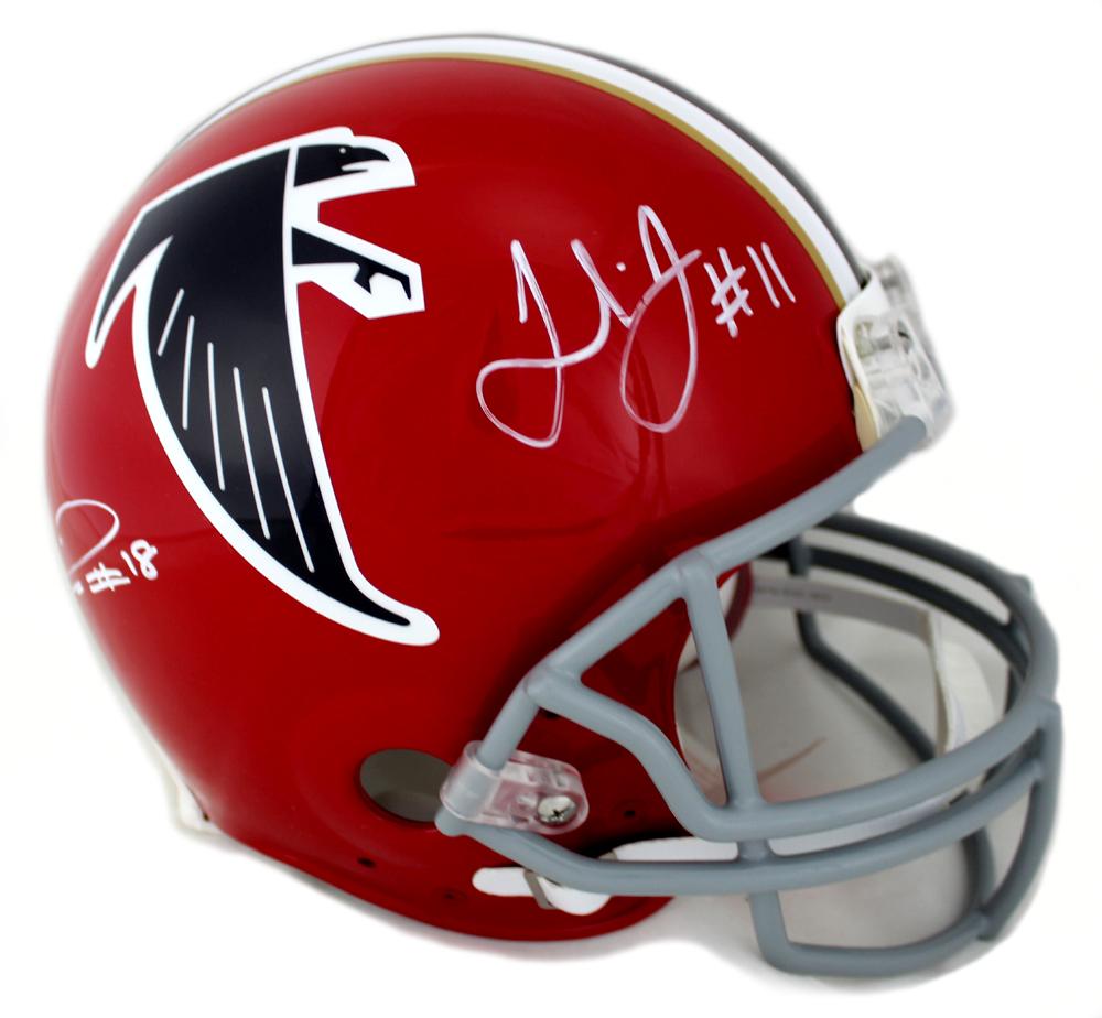 meet 41082 2a87c Julio Jones and Calvin Ridley Signed Atlanta Falcons Throwback Authentic  Helmet